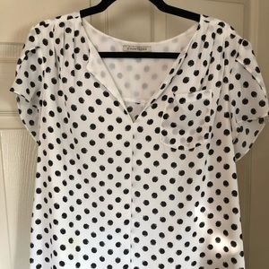 Black and white dots shirt